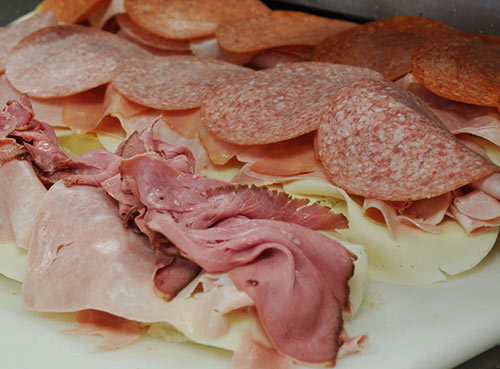 Fresh cut deli meat for terrific tasting subs!